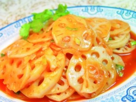 冬季养生食谱-番茄砂糖藕