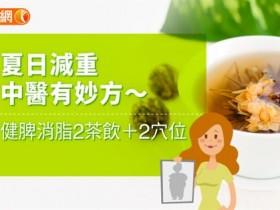 夏日减重中医有妙方〜健脾消脂2茶饮+2穴位