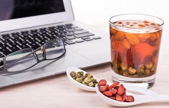 夏日喝茶降血压枸杞菊花茶